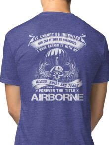 airborne infantry mom airborne jump wings airborne badge airborne brot Tri-blend T-Shirt