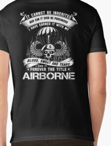 airborne infantry mom airborne jump wings airborne badge airborne brot Mens V-Neck T-Shirt