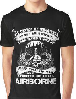 airborne infantry mom airborne jump wings airborne badge airborne brot Graphic T-Shirt
