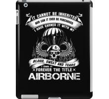 airborne infantry mom airborne jump wings airborne badge airborne brot iPad Case/Skin