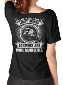 stupid farmer Bird farmer mom piglet farmer farmer wave farmer kids fa Women's Relaxed Fit T-Shirt