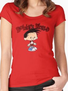 Bobbys World Cartoon Women's Fitted Scoop T-Shirt