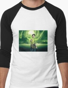 Saving The World - Nathan Men's Baseball ¾ T-Shirt