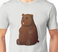 Cute Goofy Stuffed Teddy Brown Bear Unisex T-Shirt