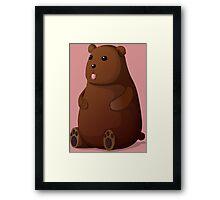 Cute Goofy Stuffed Teddy Brown Bear Framed Print