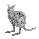 Wallaby Madness Zentangle by DILLIGAF