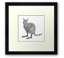 Wallaby Madness Zentangle Framed Print
