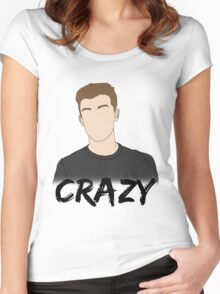 SM - Crazy Women's Fitted Scoop T-Shirt