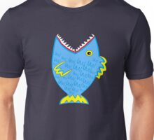 Big blue toothy fish Unisex T-Shirt