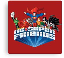 Super Friends Hero Canvas Print