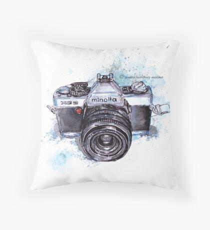 Minolta camera Throw Pillow