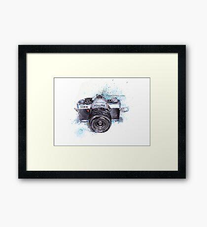 Minolta camera Framed Print