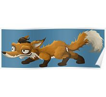 Sneaky Little Orange Fox Poster