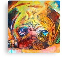 Mr Pug Pop Art  Canvas Print