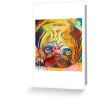 Mr Pug Pop Art  Greeting Card