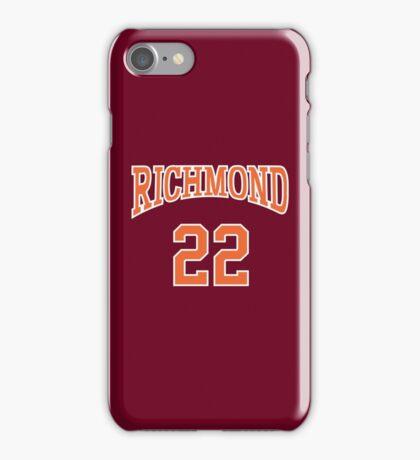 Timo Cruz 22 Richmond Oilers Home Basketball Shirt  iPhone Case/Skin