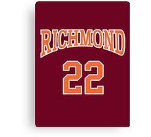 Timo Cruz 22 Richmond Oilers Home Basketball Shirt  Canvas Print