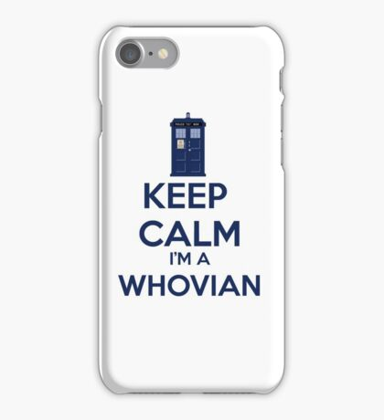 Keep Calm i'm a whovian iPhone Case/Skin