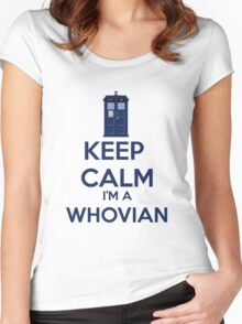 Keep Calm i'm a whovian Women's Fitted Scoop T-Shirt