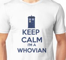 Keep Calm i'm a whovian Unisex T-Shirt