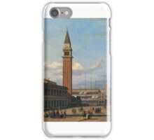VINCENZO CHILONE, VENICE, A VIEW OF THE PIAZZETTA iPhone Case/Skin