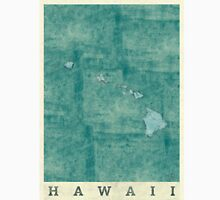 Hawaii State Map Blue Vintage Unisex T-Shirt