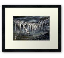 Ice Curtain Framed Print