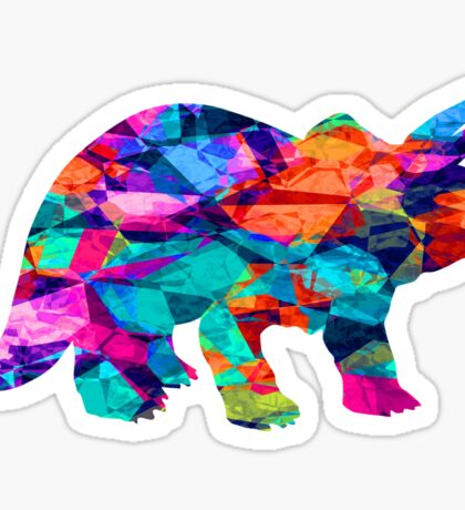 Triceratops Colours Sticker
