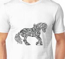 The Friesian - Abstract, Tribal Horse Art Unisex T-Shirt