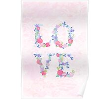 Floral love Poster