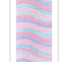 Initial T Rose Quartz And Serenity Pink Blue Wavy Lines Sticker