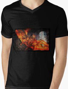 Going Batty In America Mens V-Neck T-Shirt