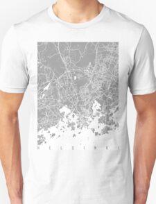 Helsinki map grey Unisex T-Shirt
