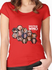 Doctor Who: 50 Years of Time and Space Women's Fitted Scoop T-Shirt