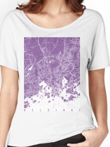 Helsinki map lilac Women's Relaxed Fit T-Shirt