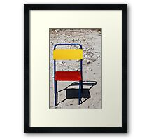 Quirky and Colorful Chair Framed Print
