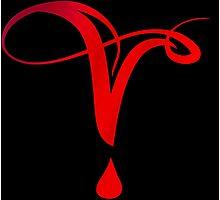 Vampire Diaries Symbol Photographic Print