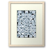 1106 - Circles in Grey, Black And White Framed Print