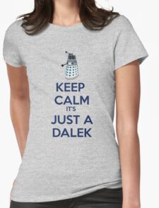 Keep Calm It's just a dalek Womens Fitted T-Shirt