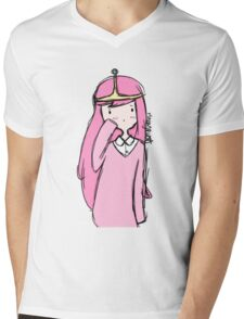 Adventure Time- Princess Bubblegum Mens V-Neck T-Shirt