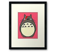 Totoro Bowie Parody Framed Print