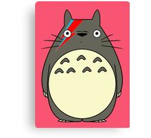 Totoro Bowie Parody Canvas Print