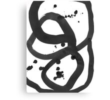 Black & White Abstract 3 Canvas Print