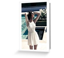 Kendall Jenner Pool Greeting Card