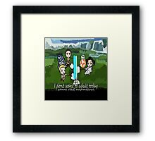 I dont want to adult today Framed Print