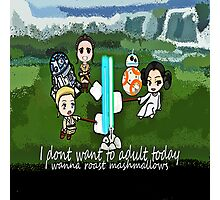 I dont want to adult today Photographic Print