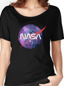 NASA Retro Nebula Logo Women's Relaxed Fit T-Shirt