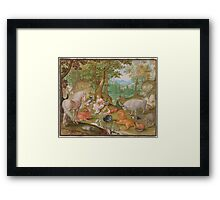 Jacob Hoefnagel  Orpheus Charming the Animals  Framed Print