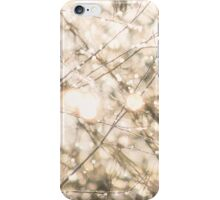 Snow and fairy lights iPhone Case/Skin