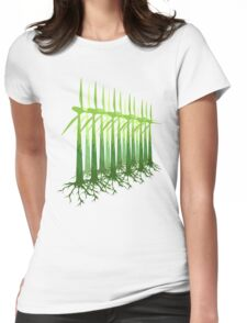 Green Power Womens Fitted T-Shirt